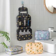 1-teilige Reisetasche mit Zitronen- und Flamingodruck