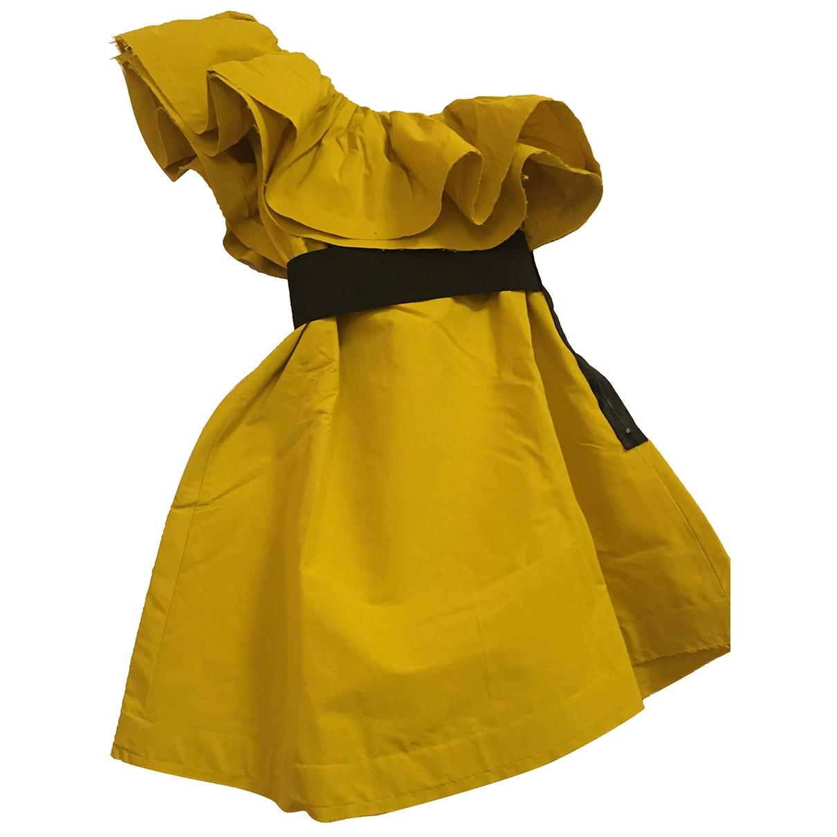 Lanvin For H&m \N Yellow Cotton - elasthane dress for Women 36 FR