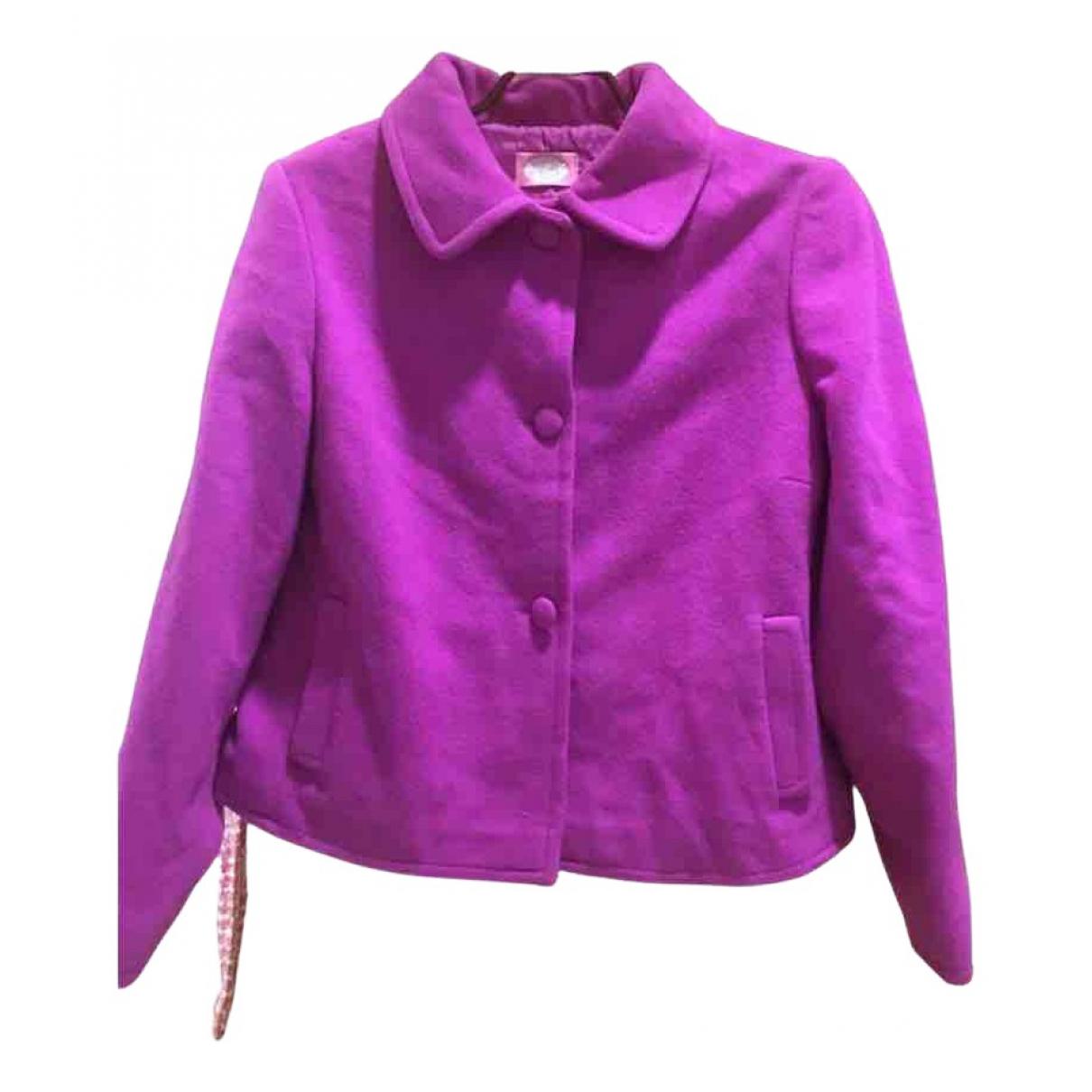 Blumarine \N Pink Wool coat for Women 46 IT