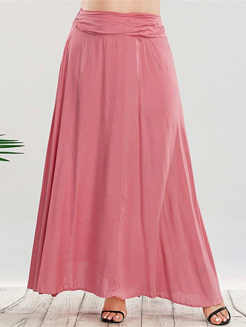 Ericdress Plain A-Line Ankle-Length Sweet Skirt