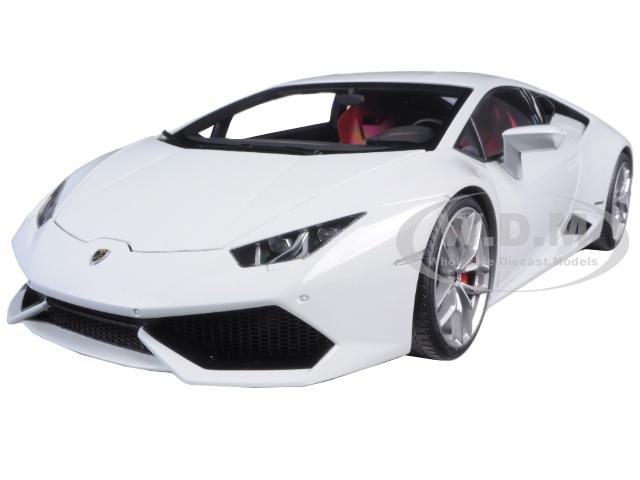 Lamborghini Huracan LP610-4 Bianco Icarus Metallic White 1/18 Model Car by Autoart