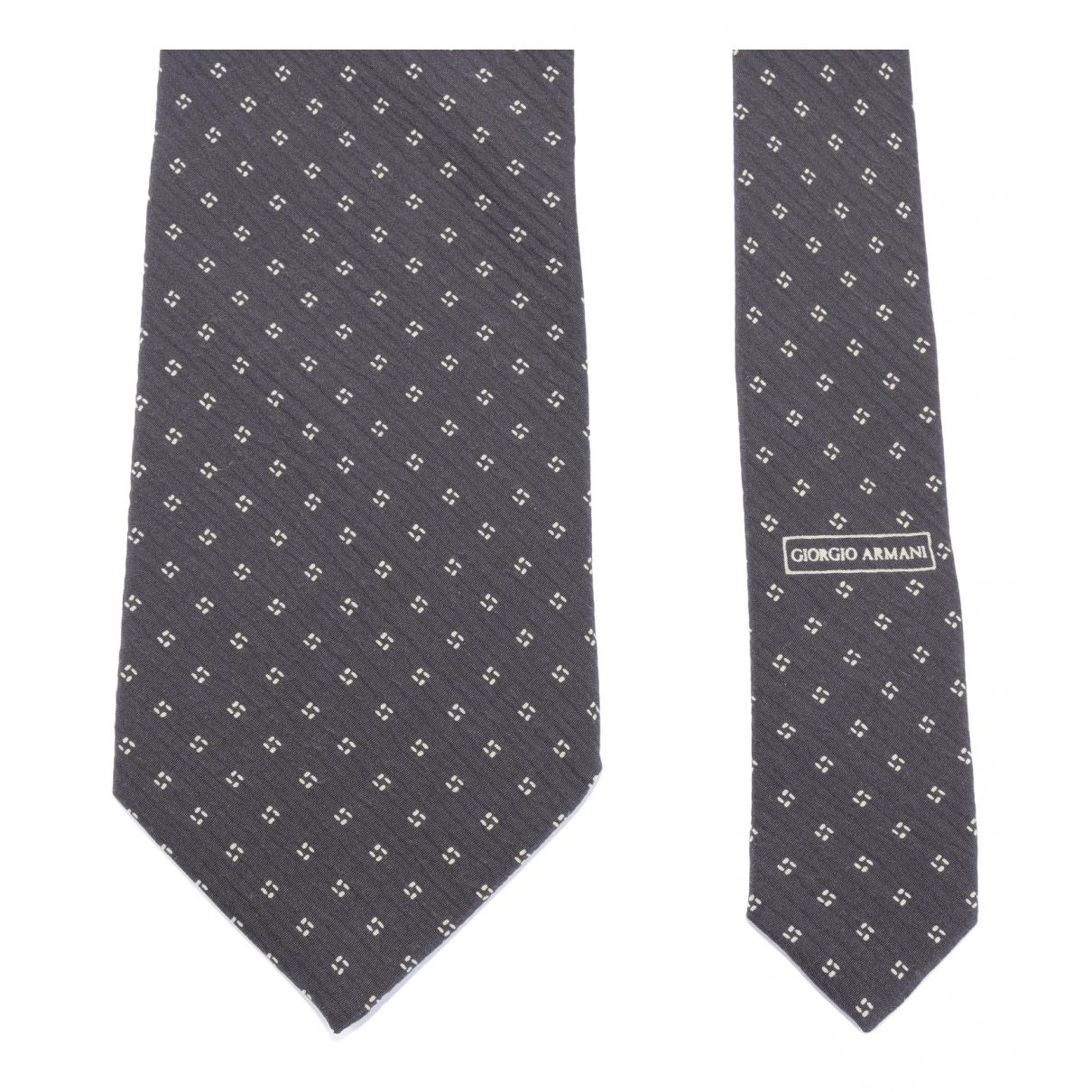 Giorgio Armani N Black Silk Ties for Men N