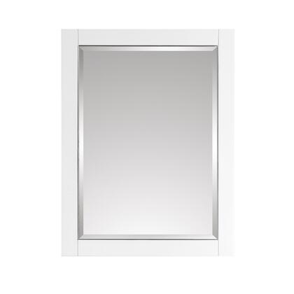 18123-M24-WTS 24 Mirror for Allie and Austen and Mason in White with Silver