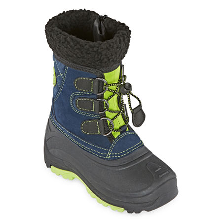 Totes Jackson Waterproof Insulated Zip Little Kid/Big Kid Boys Winter Boots, 12 Medium, Blue