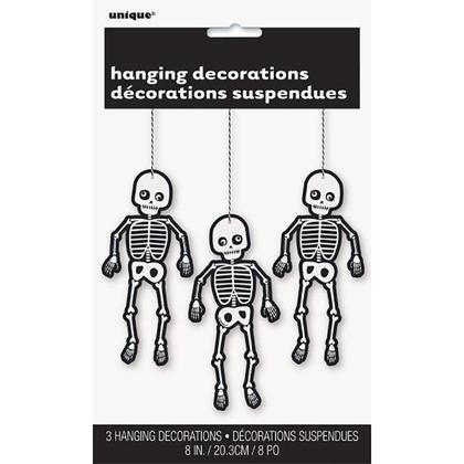 Décorations squelettiques articulées de Halloween pour décor de fête à la maison, 8