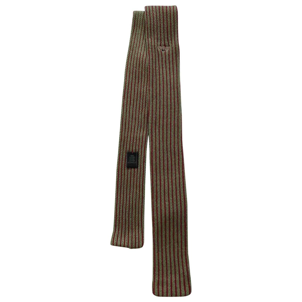 Giorgio Armani \N Krawatten in  Bunt Baumwolle