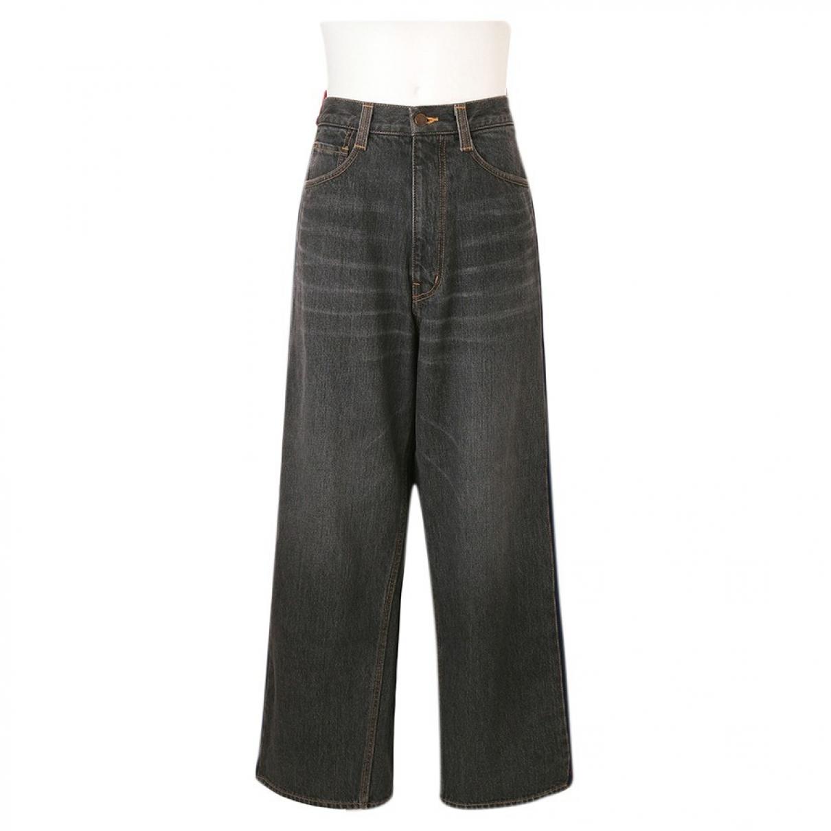 Facetasm \N Black Cotton Jeans for Men 30 US