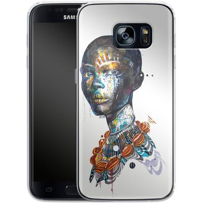 Samsung Galaxy S7 Silikon Handyhuelle - Zebra von Minjae Lee