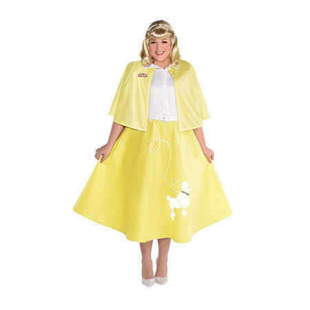 Ladies Grease Summer Nights Sandy Plus Womens Costume, Small , Yellow