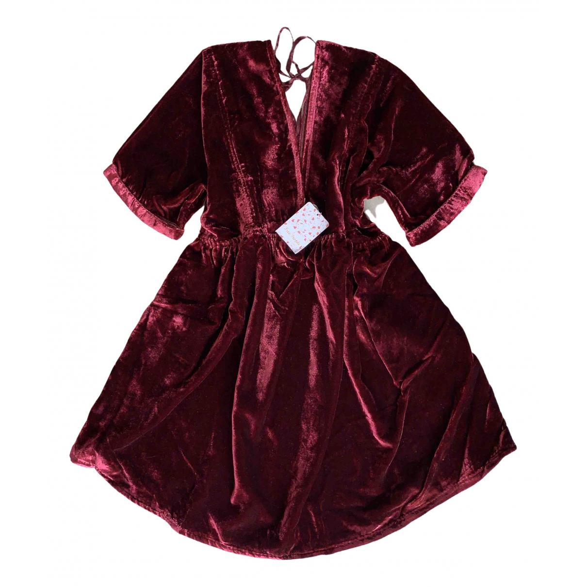 Free People \N Red Velvet dress for Women XS International