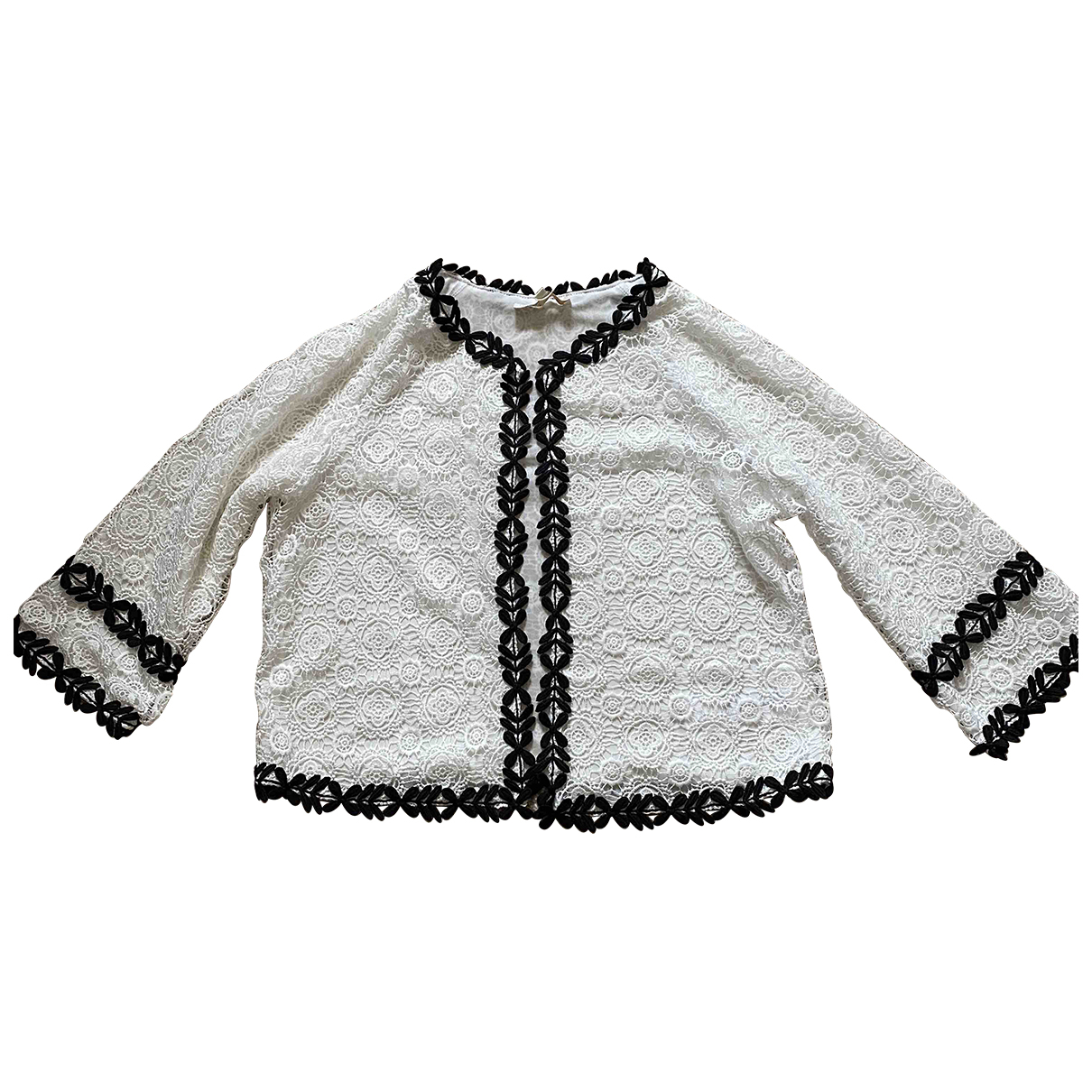Maje \N White Cotton jacket for Women 3 0-5