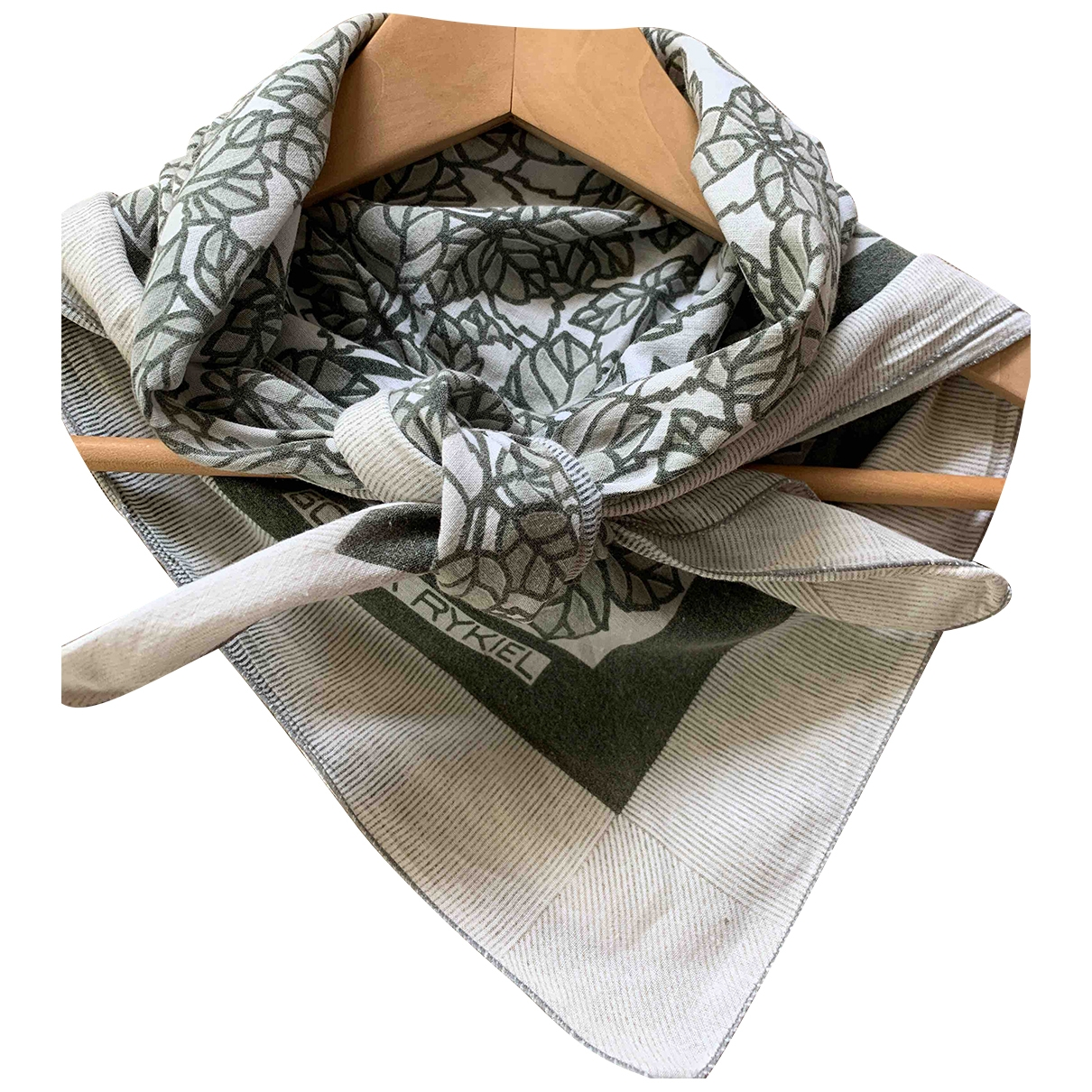Sonia Rykiel \N Khaki Cotton scarf for Women \N