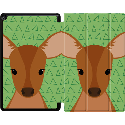 Amazon Fire HD 10 (2017) Tablet Smart Case - Deer on Green von caseable Designs
