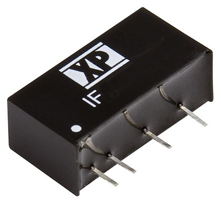 XP Power IF 1W Isolated DC-DC Converter Through Hole, Voltage in 10.8 → 13.2 V dc, Voltage out 12V dc