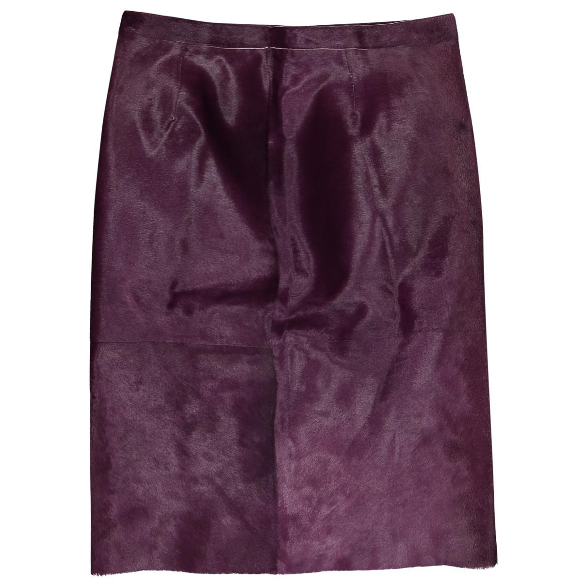 Loewe - Jupe   pour femme en veau facon poulain - violet