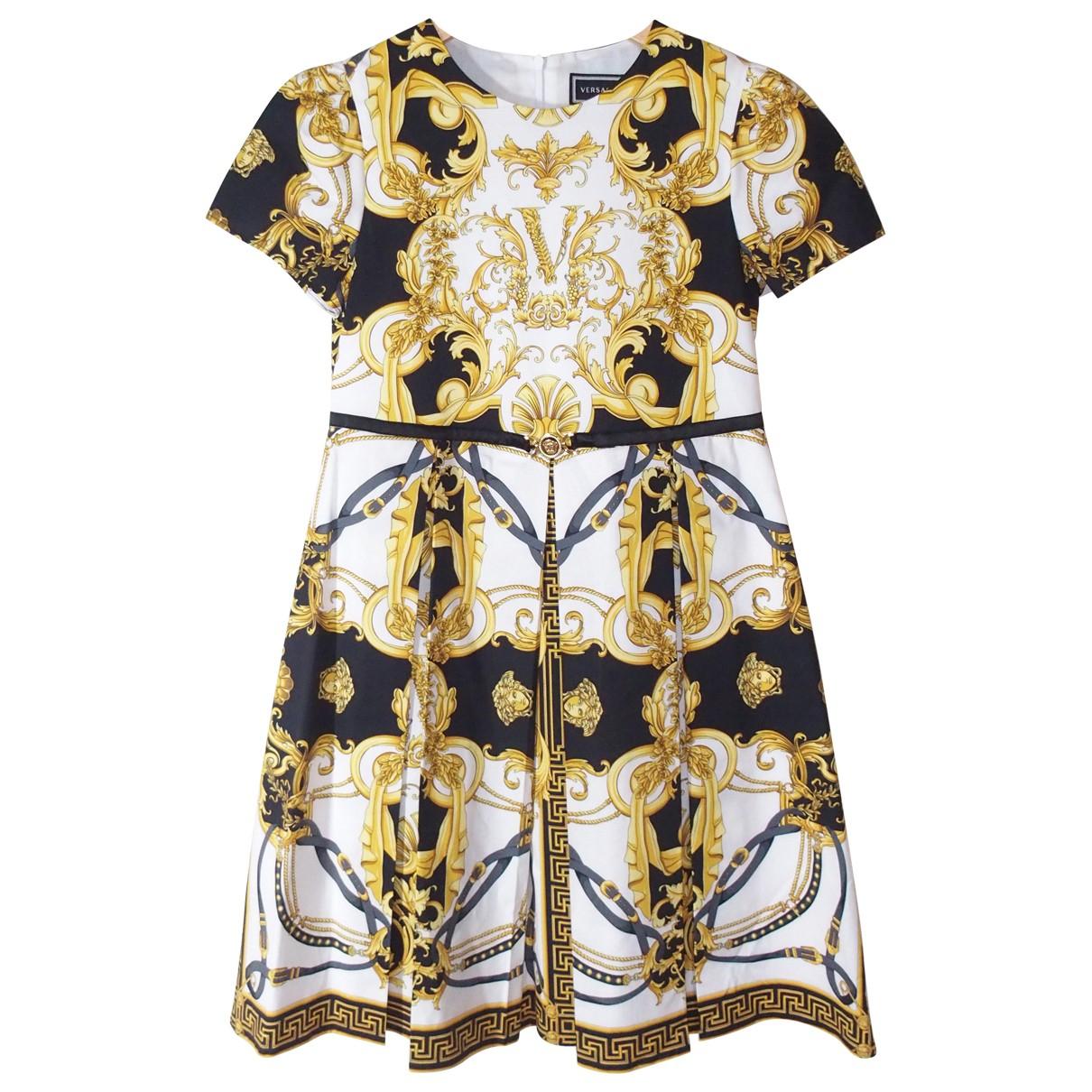 Versace - Robe    pour enfant en coton - jaune