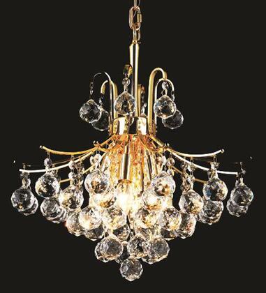 V8000D16G/SS 8000 Toureg Collection Pendant Ceiling Light D:16In H:15In Lt:6 Gold Finish (Swarovski   Elements