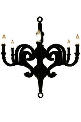 BM191455 Resin Constructed Chandelier with Six Light Holders  Small