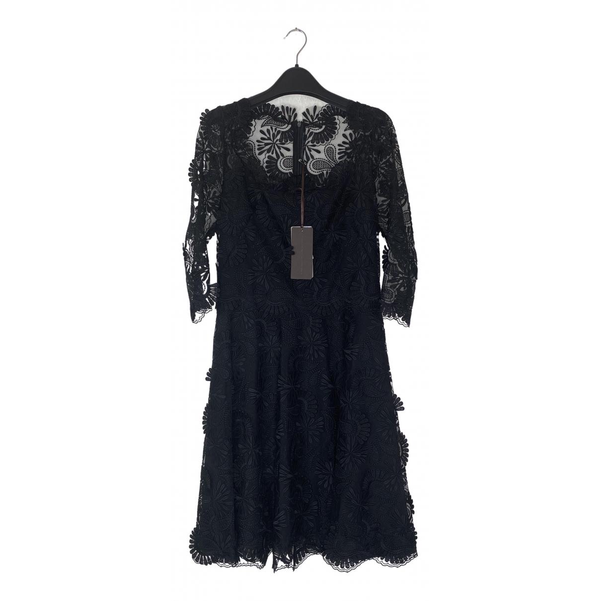 Ermanno Scervino \N Kleid in  Schwarz Spitze
