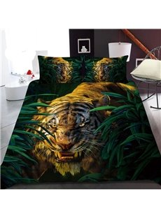 The Tiger In The Bush 3D Printed Polyester 1-Piece Warm Quilt