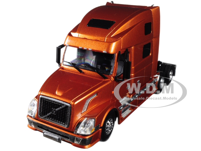 Volvo VN780 6X4 3 Axle Tractor Sleeper Cab Bronze 1/50 Diecast Model by WSI Models