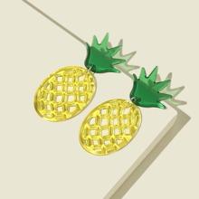 Ohrringe mit Ausschnitt und Ananas Dekor