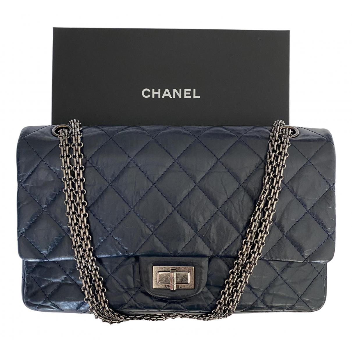 Chanel 2.55 Handtasche in  Marine Leder