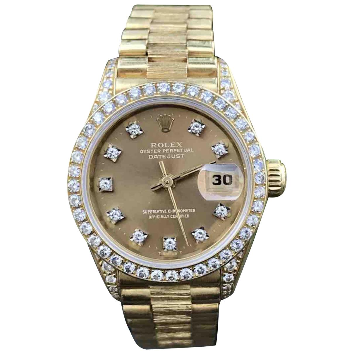 Rolex Lady DateJust 26mm Uhr in  Gold Gelbgold