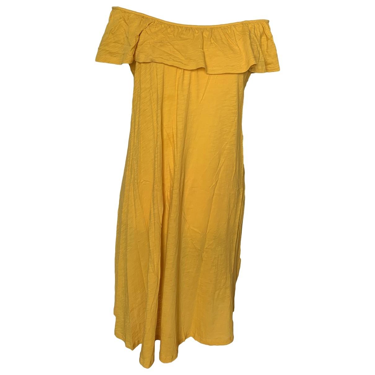 Ba&sh \N Kleid in  Gelb Baumwolle