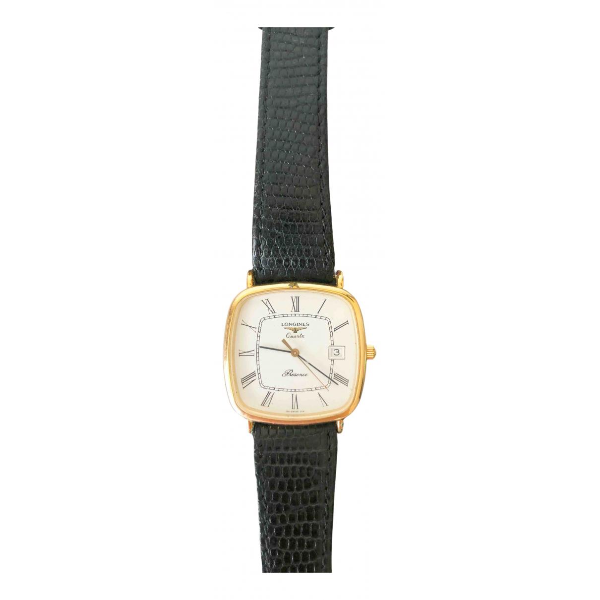 Longines \N Uhr in  Weiss Vergoldet