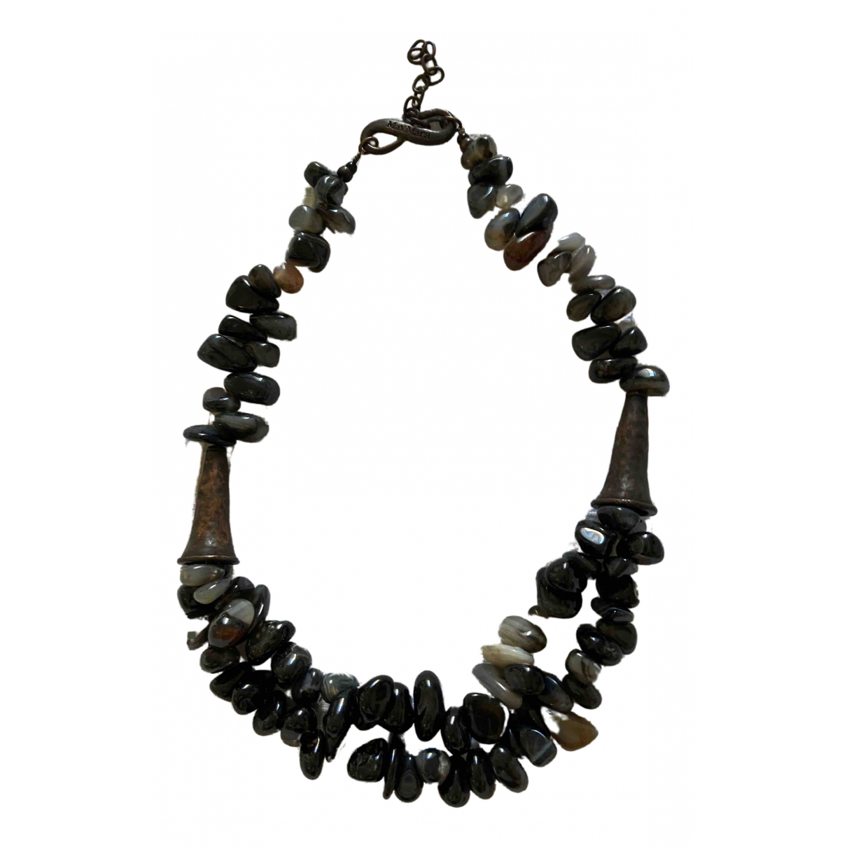 Max Mara \N Anthracite Metal necklace for Women \N