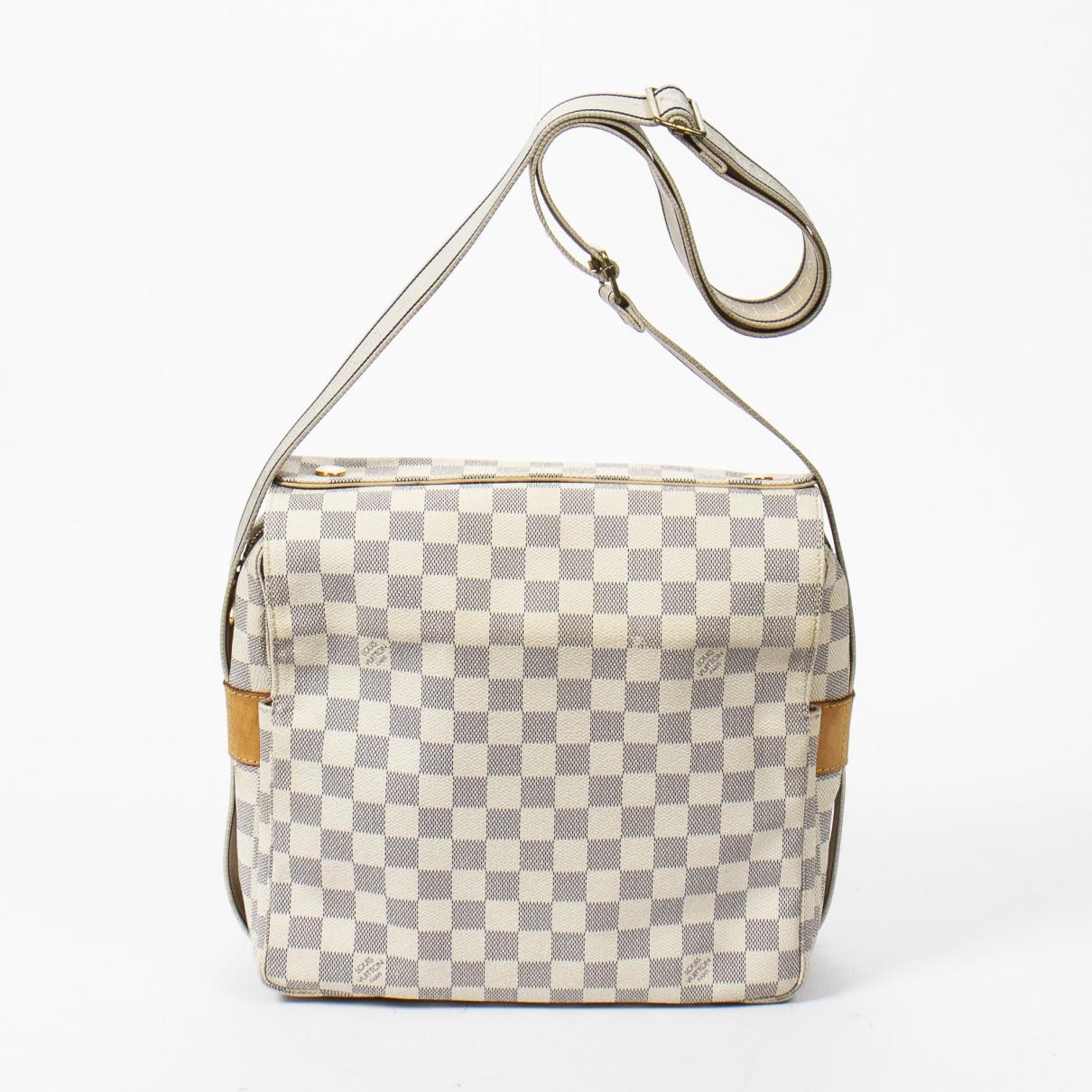 Louis Vuitton Naviglio Beige Leather handbag for Women \N