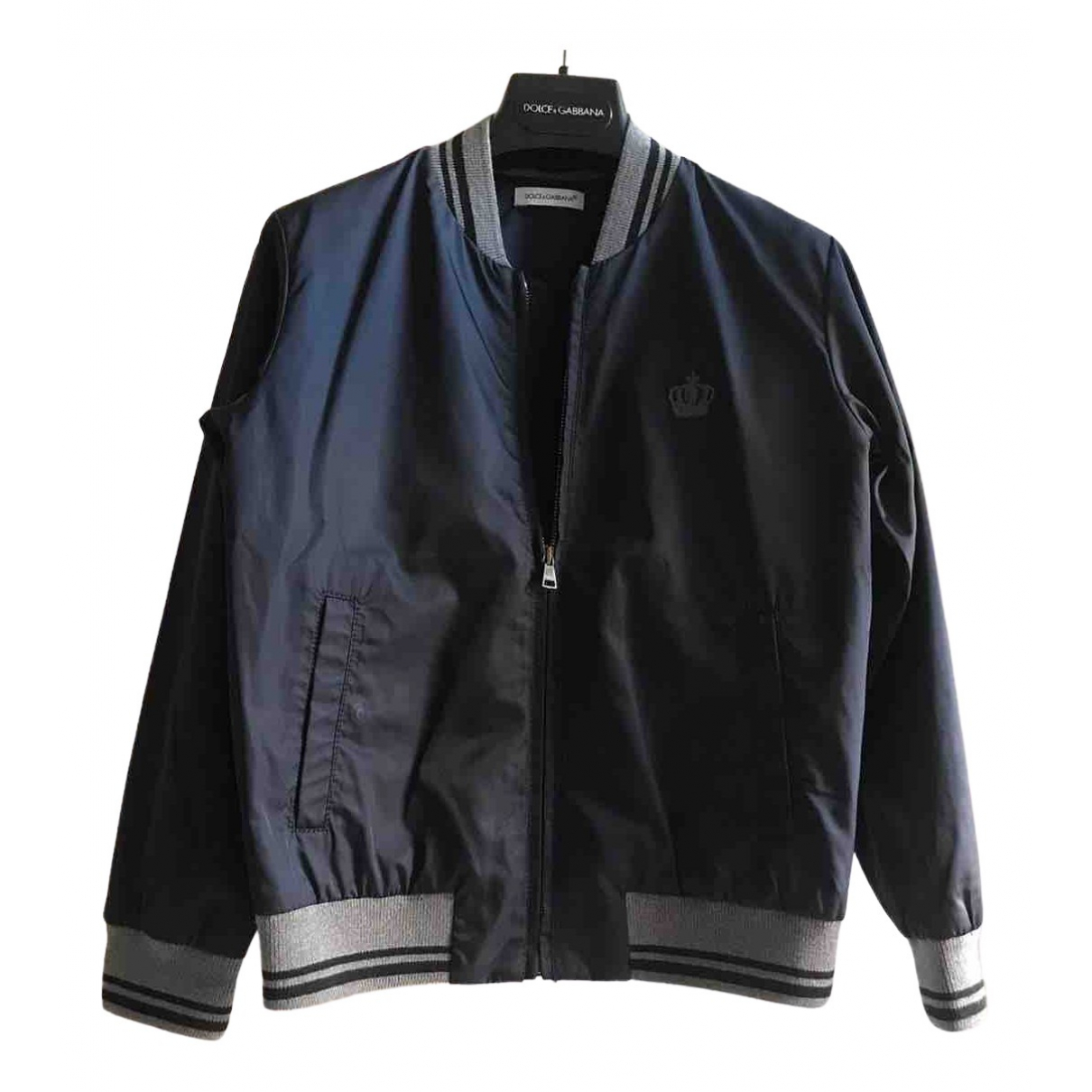 Dolce & Gabbana \N Jacke, Maentel in  Blau Polyester