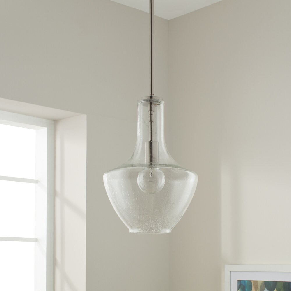 Kichler Lighting Everly Collection 1-light Brushed Nickel Pendant 10.5 inch Diameter