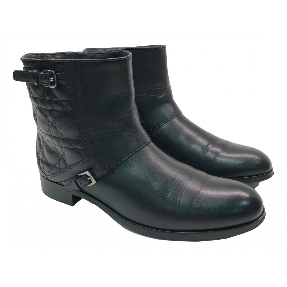 Dior \N Black Leather Ankle boots for Women 39.5 EU