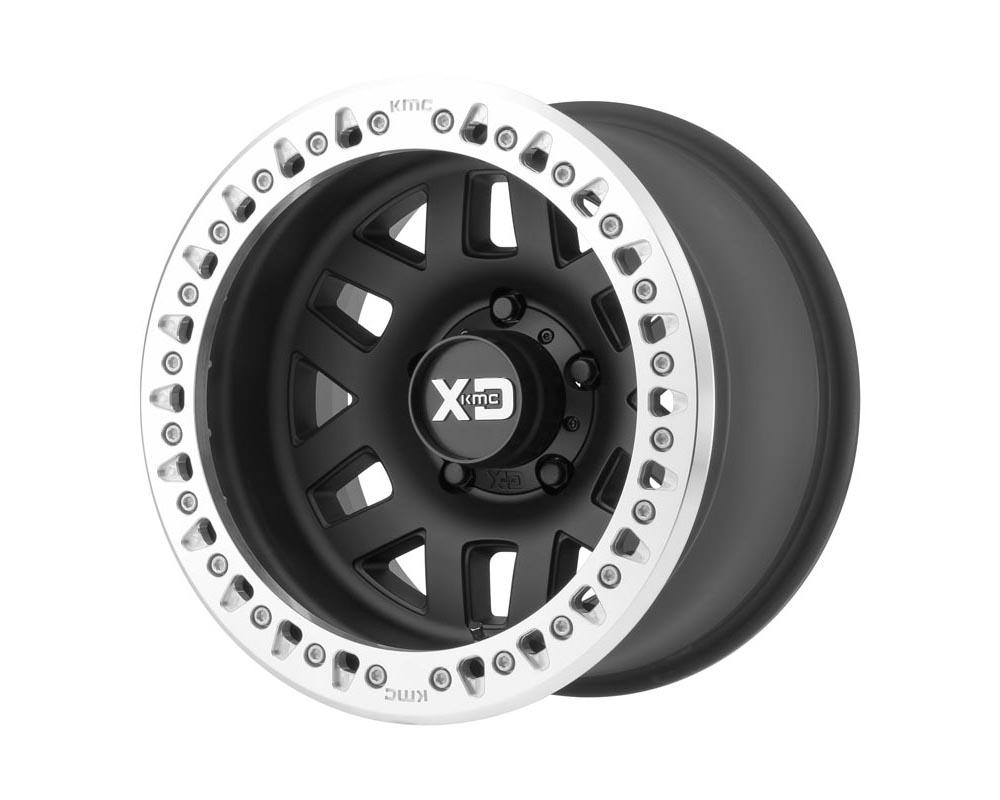 XD Series XD22979080738N XD229 Machete Crawl Wheel 17.00x9.00 8X6.5 -38 Satin Black Machined Bead Ring