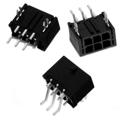 Wurth Elektronik , WR-MPC3, 6 Way, 2 Row, Right Angle PCB Header (5)