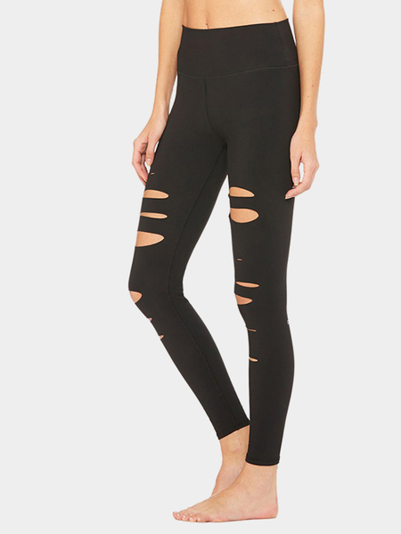 Yoins Black Cut Out Yoga Bodycon Leggings
