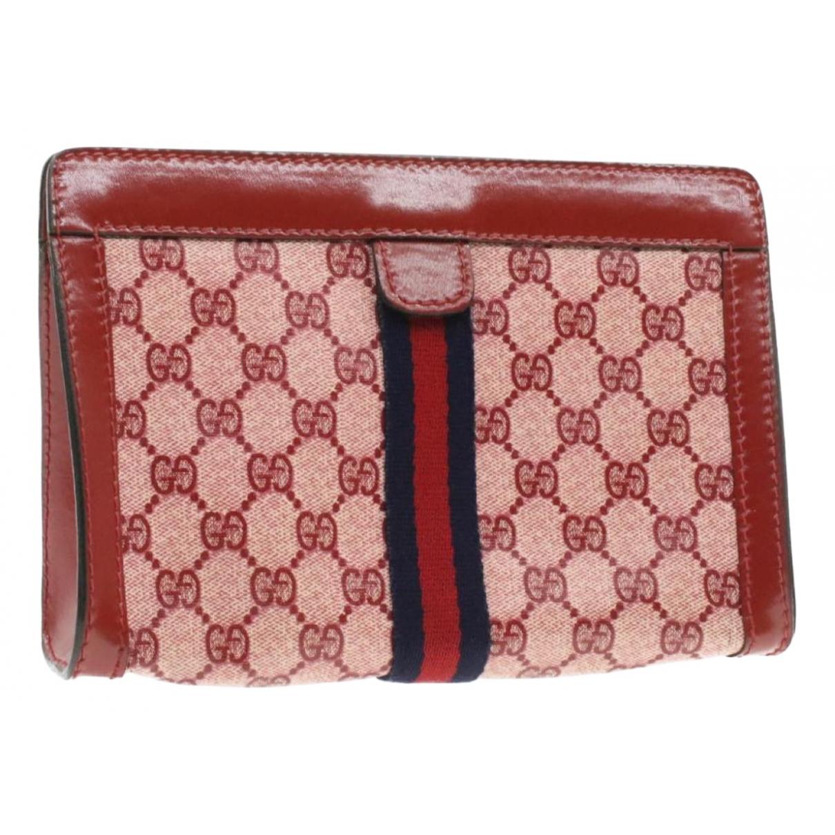 Gucci - Sac de voyage   pour femme en toile - rouge
