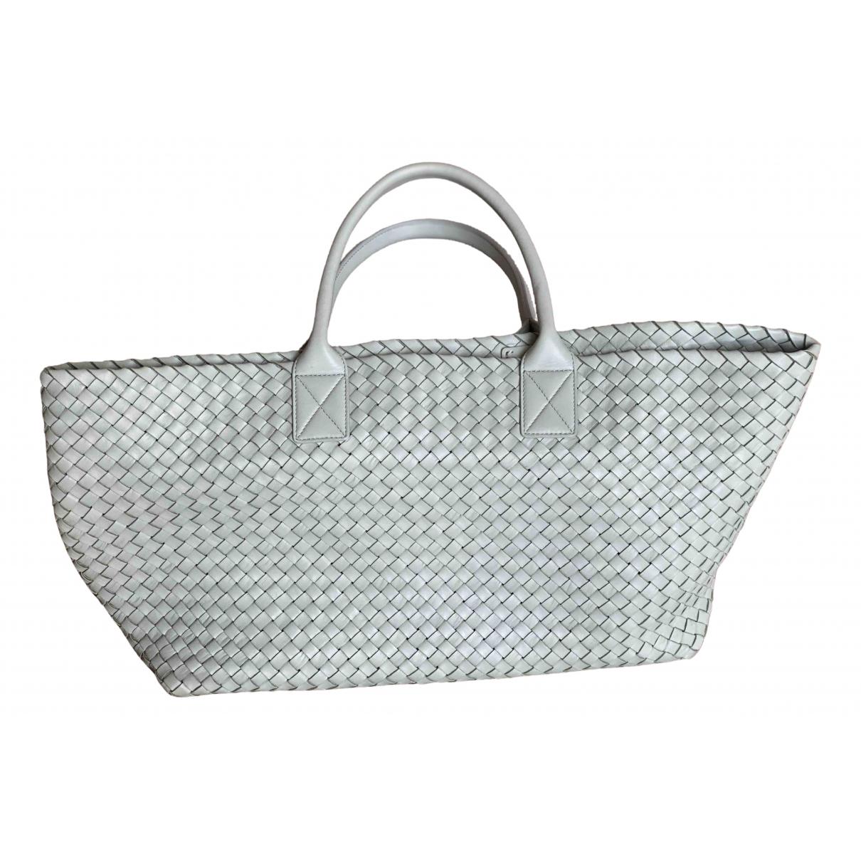 Bottega Veneta Cabat Green Leather handbag for Women N