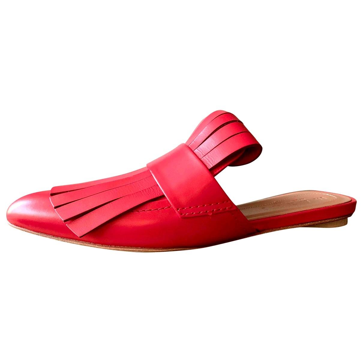 Marni - Sandales   pour femme en cuir - rouge