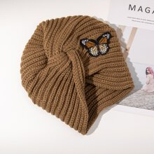 Butterfly Embroidery Turban Hat