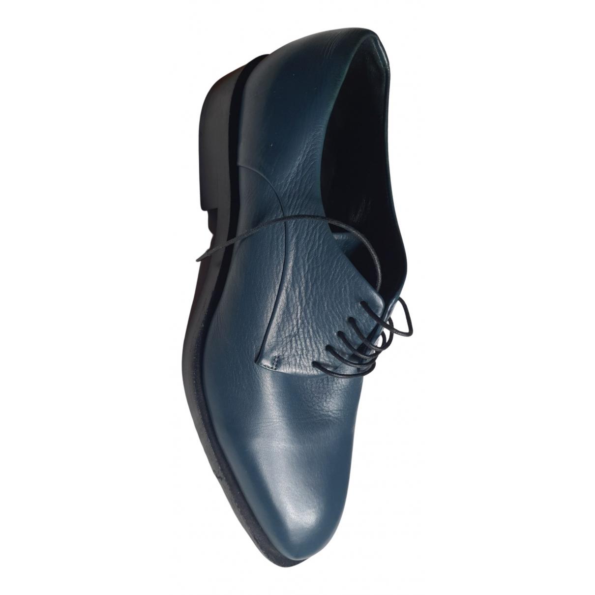 Jil Sander - Derbies   pour femme en cuir - bleu