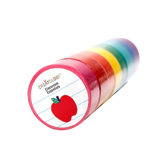 Classroom Essentials Assorted Color Masking Tape Rolls By Creatology™, 8 ct | Michaels®