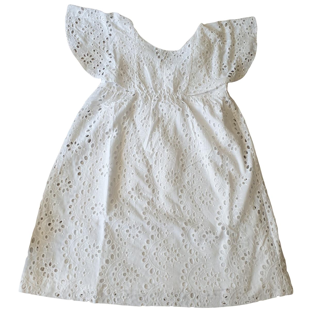 Zara - Robe    pour enfant en coton - blanc