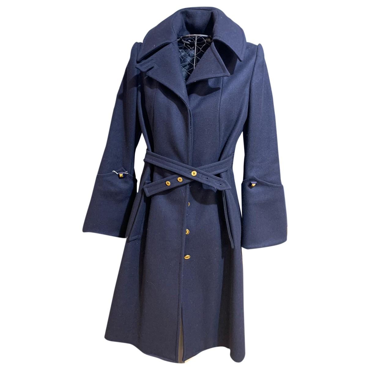 Givenchy - Manteau   pour femme en coton - bleu