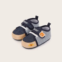 Baby Boy Ladybug Print Striped Flats