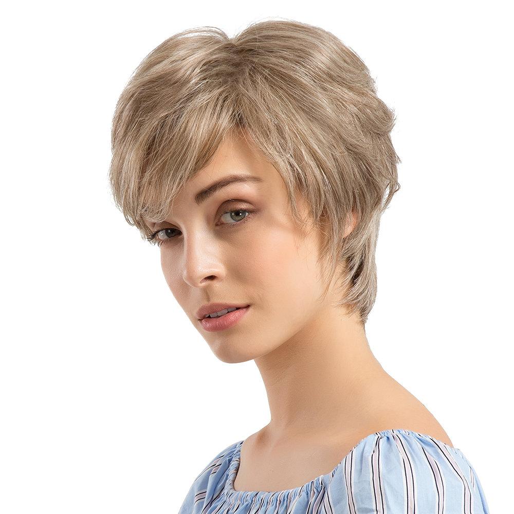 Human Hair Short Wigs Fashion Micro-Rolled Hair Wigs Hair Styling Headwear For Women Hair Wigs