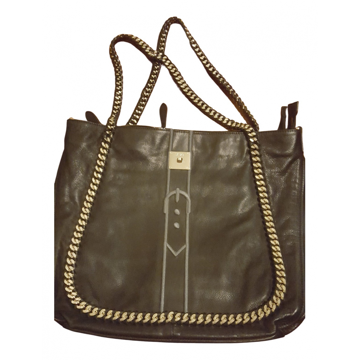 V 73 N Black Leather handbag for Women N
