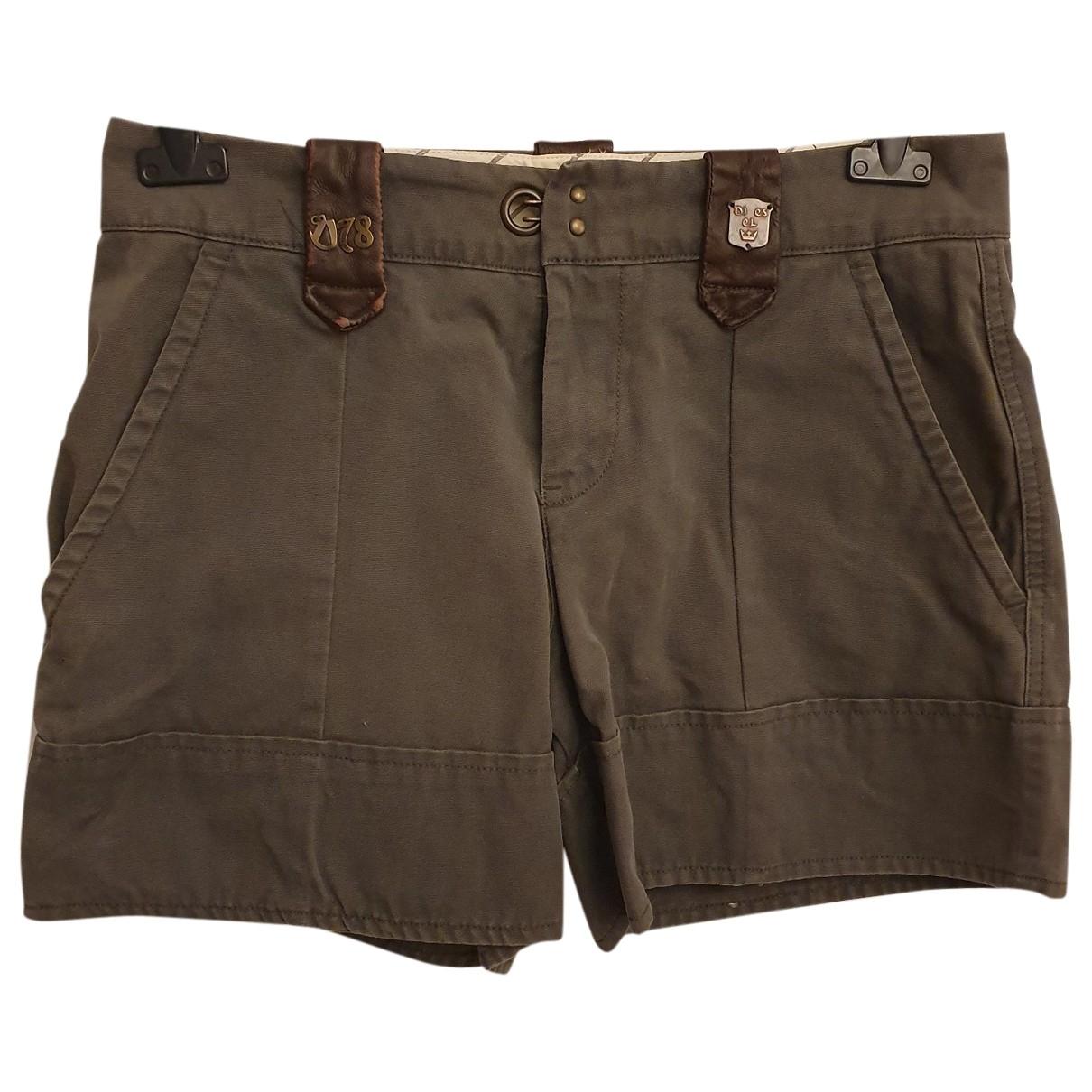 Diesel \N Green Cotton Shorts for Women 44 IT
